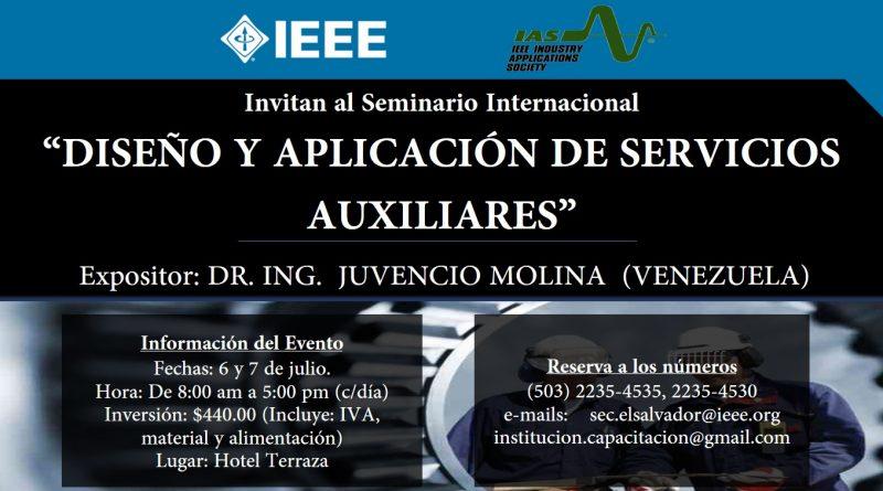 Seminario internacional: Diseño y aplicación de Servicios Auxiliares