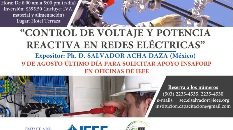 """Seminario internacional: """"Control de voltaje y potencia reactiva en redes eléctricas"""""""