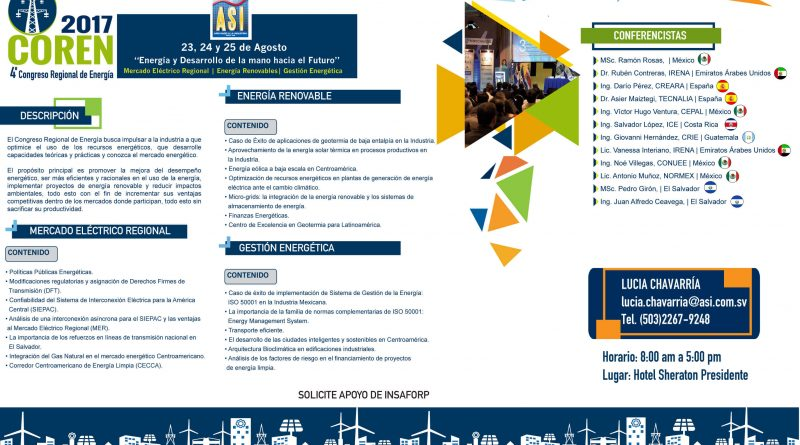 IEEE participará como socio estratégico en Congreso Regional de Energía 2017